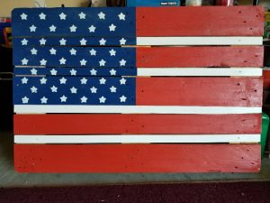 Pallet flag made by Tom Schmiegel, Berry Industrial