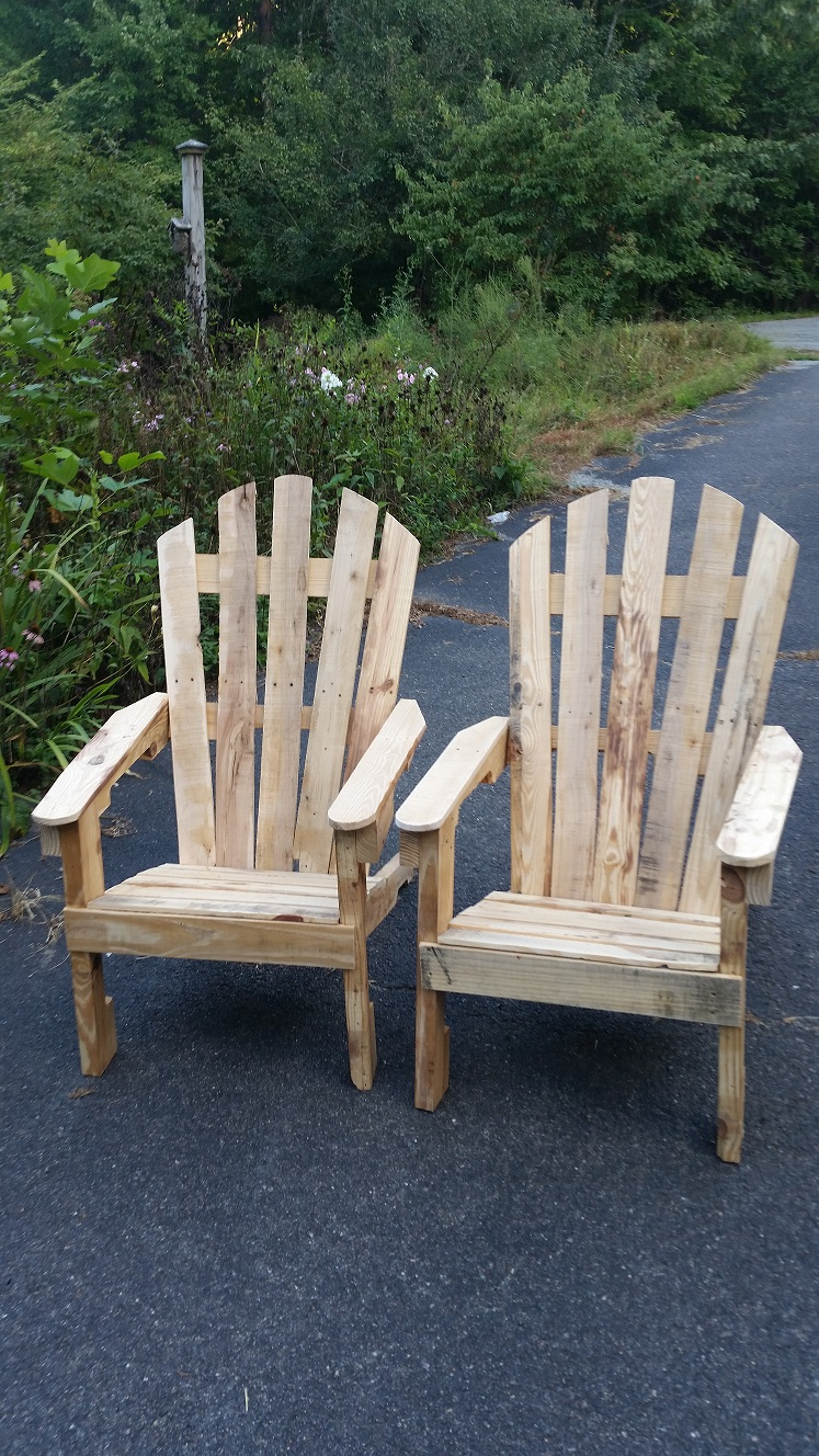 Adirondack chair built by Jake Burch