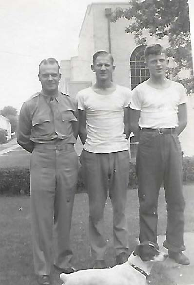 Emerson Berry, Army (left), Roland Berry, Merle Berry