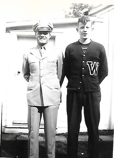 Emerson Berry, Army (left) with Merle Berry (Peter Berry